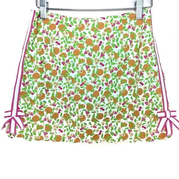 Lilly Pulitzer Other - Lilly Pulitzer Vintage Girls Scallop Citrus Skirt